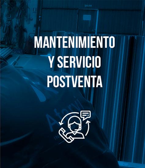 Mantenimiento y servicio postventa